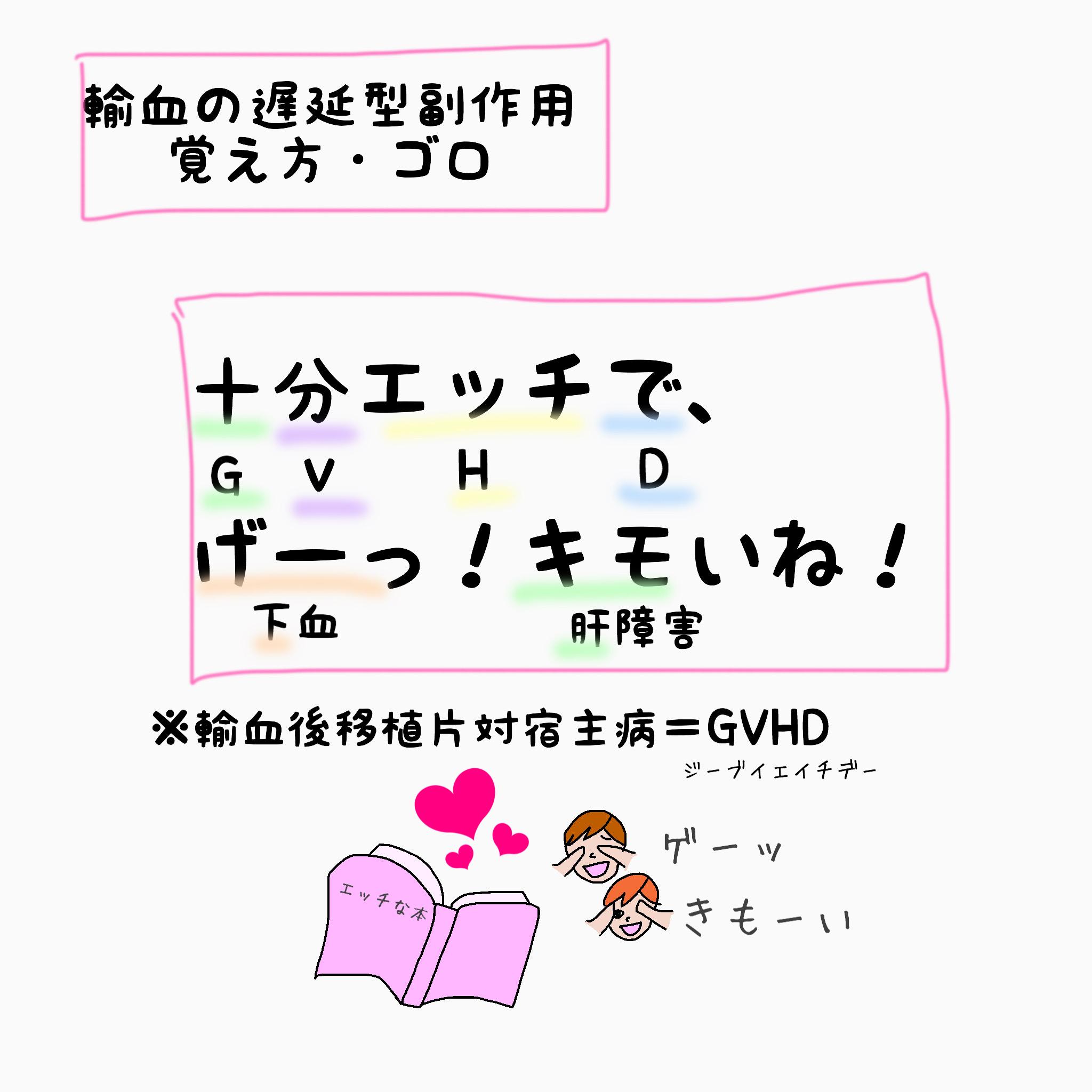 輸血 GVHD 覚え方